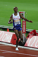 Mo Farah of Great Britain in the 3000m during the Sainsbury's Anniversary Games at the Queen Elizabeth II Olympic Park, London, United Kingdom on 24 July 2015. Photo by Ellie Hoad.