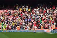 Football - 2021 / 2022 Women's Super League - Arsenal vs Chelsea - Emirates Stadium - Sunday 5th September 2021<br /> <br /> Arsenal fans salute the team after their 3-2 victory.<br /> <br /> COLORSPORT/Ashley Western
