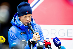 February 9, 2018 - Pyeongchang, SOUTH KOREA - 180209 Johannes HÂ¿sflot Kl¾bo of Norway during a press event with the Norwegian men's cross-country team during the 2018 Winter Olympics on February 8, 2018 in Pyeongchang..Photo: Jon Olav Nesvold / BILDBYRN / kod JE / 160147 (Credit Image: © Jon Olav Nesvold/Bildbyran via ZUMA Press)