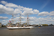 Tall ships in London, England, United Kingdom.