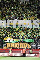 Supporters Nantes - 21.03.2015 - Rennes / Nantes - 30eme journee de Ligue 1 -<br />Photo : Vincent Michel / Icon Sport