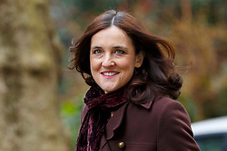 © Licensed to London News Pictures. 08/03/2016. London, UK. Northern Ireland Secretary THERESA VILLIERS attending a cabinet meeting in Downing Street on Tuesday, 8 March 2016. Photo credit: Tolga Akmen/LNP