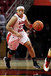 30 January 2015:  Mary Sims during an NCAA women's basketball game between the Bradley Braves and the Illinois Sate Redbirds at Redbird Arena in Normal IL