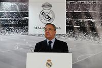 Real Madrid´s President Florentino Perez during Zinedine Zidane presentation as Real Madrid´s new coach at Santiago Bernebeu stadium Madrid, Spain. January 04, 2016. (ALTERPHOTOS/B. Echavarri)
