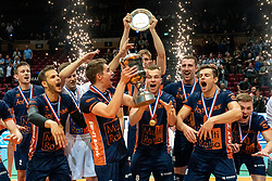 12-05-2019 NED: Abiant Lycurgus - Achterhoek Orion, Groningen<br /> Final Round 5 of 5 Eredivisie volleyball, Orion win 3-2 and is Dutch Champion
