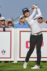 August 23, 2018 - Regina, SK, U.S. - REGINA, SK - AUGUST 23: Lydia Ko (NZL) watches her tee shot on 12 during the CP Women's Open Round 1 at Wascana Country Club on August 23, 2018 in Regina, SK, Canada. (Photo by Ken Murray/Icon Sportswire) (Credit Image: © Ken Murray/Icon SMI via ZUMA Press)