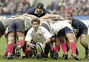 Saint-Denis, Paris, France, 23rd February 2003,  Six Nations Rugby International, France vs Scotland, Stade de France,<br /> [Mandatory Credit: Peter Spurrier/Intersport Images],<br /> Photo Peter Spurrier<br /> 23/02/2003<br /> Sport -SIX NATIONS RUGBY - France v Scotland<br /> Dimitri Yachvili