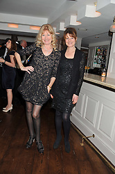 Left to right, DEBBIE MOORE and DANKA BLAIS at Shepherd's Delight an evening of Dinner & Entertainment in aid of The National Youth Theatre of Great Britain held at Shepherd's, Marsham Street, London on3rd December 2012.