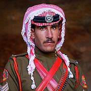 Jordanian guard in full uniform, Petra, Jordan (December 2007)