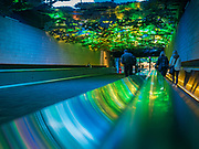 17 FEBRUARY 2020 - ATLANTA, GEORGIA:   Underground walkway between concourses in Atlanta's Hartsfield–Jackson Atlanta International Airport, the world's busiest airport by passenger count.  PHOTO BY JACK KURTZ