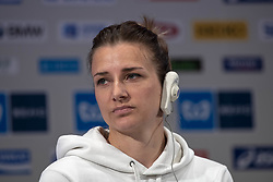 March 1, 2019 - Tokyo, Tokyo, Japan - SCHAR Manuela (SUI) Wheelchair Athletes speaks during a press conference ahead of the Tokyo Marathon in Tokyo on March 1, 2019. The annual Tokyo Marathon will be held on March 3. (Credit Image: © Alessandro Di Ciommo/NurPhoto via ZUMA Press)