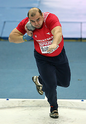 Nedzad Mulabegovic of Croatia in the Shot Put men Qualification at the 2nd day of  European Athletics Indoor Championships Torino 2009 (6th - 8th March), at Oval Lingotto Stadium,  Torino, Italy, on March 6, 2009. (Photo by Vid Ponikvar / Sportida)