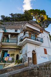 Sorrento, Italy, September 15 2017. Cliffside homes at Marina Grande in Sorrento, Italy. © Paul Davey