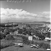 24/03/1959<br /> 03/24/1959<br /> 24 March 1959<br /> View of Dun Laoghaire Harbour from Haddington House. Image possibly taken in September 1958.