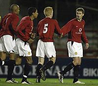 Fotball<br /> Manchester United v Aston Villa.<br /> Reserves game at Altrincham.<br /> 05/02/2004.<br /> Ole Gunnar Solskjær<br /> <br /> Foto: Digitalsport