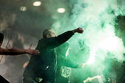 Green Dragons during football match between NK Maribor and NK Olimpija Ljubljana in 2nd leg match in Quaterfinal of Slovenian cup 2017/2018, on November 29, 2017 in Ljudski vrt, Maribor, Slovenia. Photo by Ziga Zupan / Sportida