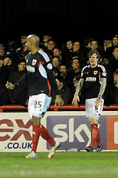 Bristol City's Aden Flint  cuts a frustrated figure after scoring an own goal - Photo mandatory by-line: Dougie Allward/JMP - Tel: Mobile: 07966 386802 28/01/2014 - SPORT - FOOTBALL - Griffin Park - Brentford - Brentford v Bristol City - Sky Bet League One