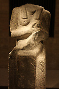 Statue of 'Isis Lactans' with a Meroitic inscription. Meroitisch, 100 BC - 300 AD. Gebel Barkal (Sudan) grey granite