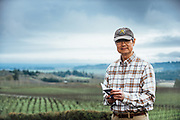 Portrait of Mark Chien at Bethel Heights Vineyard for _Portrait_ Oregon Wine Press