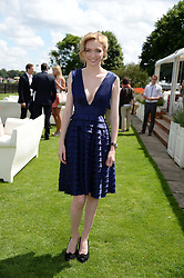 ELEANOR TOMLINSON at the Audi International Polo at Guards Polo Windsor Great Park, Egham, Surrey on 28th July 2013.