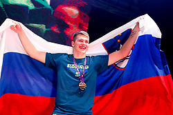 September 18, 2017 - Ljubljana, Slovenia, Slovenia - Luka Doncic celebrate in Ljubljana after Slovenian basketball team historical win in European Championship in Istanbul on September 18, 2017 in Ljubljana, Slovenia. (Credit Image: © Damjan Zibert/NurPhoto via ZUMA Press)