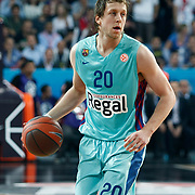FC Barcelona Regal's Joe Ingles during their Euroleague Final Four semifinal Game 2 basketball match Olympiacos's between FC Barcelona Regal at the Sinan Erdem Arena in Istanbul at Turkey on Friday, May, 11, 2012. Photo by TURKPIX