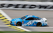 NASCAR Cup Series driver Matt Kenseth (6) crosses the start, finish line during a practice run at Kansas Speedway in Kansas City, Kan., Friday, May 11, 2018. (AP Photo/Colin E. Braley)