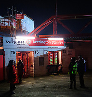 A general view of Crown Ground, home of Accrington Stanley FC<br /> <br /> Photographer Andrew Vaughan/CameraSport<br /> <br /> The EFL Checkatrade Trophy Second Round - Accrington Stanley v Lincoln City - Crown Ground - Accrington<br />  <br /> World Copyright © 2018 CameraSport. All rights reserved. 43 Linden Ave. Countesthorpe. Leicester. England. LE8 5PG - Tel: +44 (0) 116 277 4147 - admin@camerasport.com - www.camerasport.com