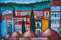 Georgie, Caucase, Tbilissi, vieille ville, mur peint // Georgia, Caucasus, Tbilisi, old city, wall painting