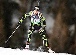 "19.01.2012, Südtirol Arena, Antholz, ITA, E.ON IBU Weltcup, 6. Biathlon, Antholz, Sprint Damen, im Bild Marie Laure Brunet (FRA) // Marie Laure Brunet (FRA) during Sprint Women E.ON IBU World Cup 6th, ""South Tyrol Arena"", Antholz-Anterselva, Italy on 2012/01/19, EXPA Pictures © 2012, PhotoCredit: EXPA/ Juergen Feichter"