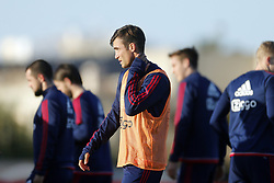 Nicolas Tagliafico of Ajax (C) during a training session of Ajax Amsterdam at the Cascada Resort on January 08, 2018 in Lagos, Portugal