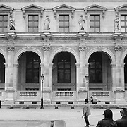 The Louvre Palace which houses the Musee Du Louvre, a famous landmark and world renowned Museum and architectural masterpiece.  Paris, France, 28th February 2011 .