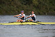 Crew: 35 - Diserens / Lewis - Putney Town Rowing Club - Op 2- Championship <br /> <br /> Pairs Head 2020