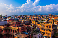 Overview, Bhaktapur, Kathmandu Valley, Nepal.