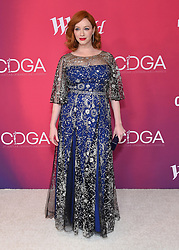 February 19, 2019 - Beverly Hills, California, U.S. - Christina Hendricks arrives for the 21st CDGA (Costume Designers Guild Awards) at the Beverly Hilton Hotel. (Credit Image: © Lisa O'Connor/ZUMA Wire)
