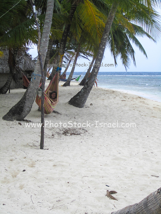 Panama, white sandy beach