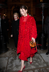 Mia Goth arriving at Valentino fashion show during Paris Fashion Week Haute Couture Spring Summer 2020 on January 23, 2019 in Paris, France.