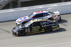 August 12, 2018 - Brooklyn, Michigan, United States of America - Matt DiBenedetto (32) and AJ Allmendinger (47) battle for position during the Consumers Energy 400 at Michigan International Speedway in Brooklyn, Michigan. (Credit Image: © Chris Owens Asp Inc/ASP via ZUMA Wire)