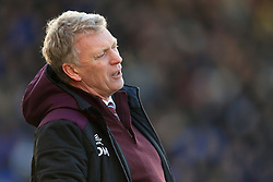 7th January 2018 - FA Cup - 3rd Round - Shrewsbury Town v West Ham United - West Ham manager David Moyes looks dejected - Photo: Simon Stacpoole / Offside.