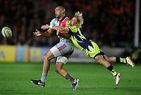 Rugby Union - 2017 / 2018 Aviva Premiership - Harlequins vs. Sale Sharks<br /> <br /> Aaron Morris of Quins is tackled by Faf De Klerk at The Stoop.<br /> <br /> COLORSPORT/ANDREW COWIE