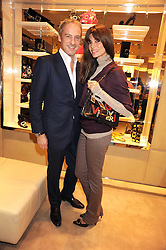ANTON & LISA BILTON at a party at Roger Vivier, Sloane Street, London on 2nd December 2008.