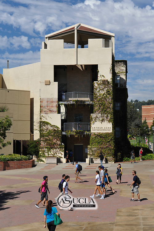 ASUCLA Photography Archive -  Exterior photo of the UCLA Arthur Ashe Student Health and Wellness Center. UCLA Campus. University of California Los Angeles, Westwood, California.<br /> <br /> Copyright: ASUCLA