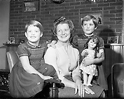 Special for Daily Express - Mrs Samuel Shaw and Twins, Drogheda<br /> 14/11/1959