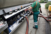 Petrol tanker delivery