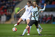 Jill Scott (England) during the Euro 2017 qualifier between England Ladies and Belgium Ladies at the New York Stadium, Rotherham, England on 8 April 2016. Photo by Mark P Doherty.