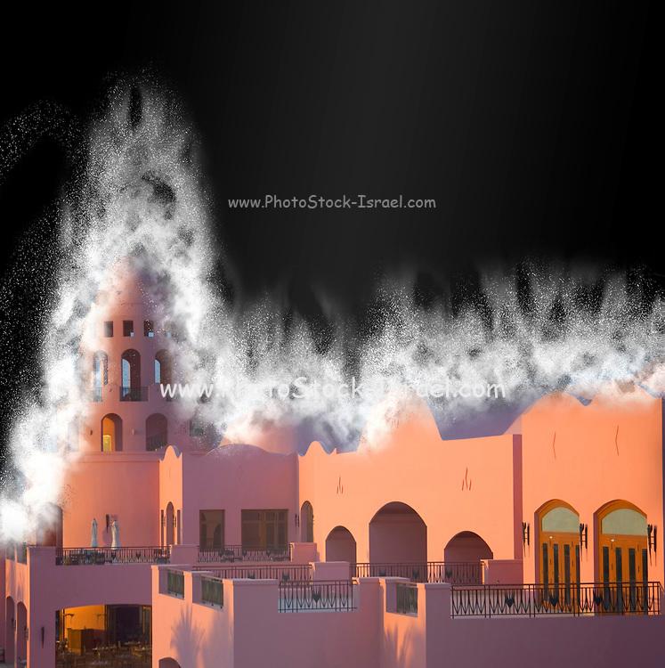 Fantasy Castle in dust storm