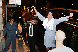 May 7, 2017 - Stockholm, Sweden - Kiss arrive to Lydmar Hotel after their concert at Tele2 Arena, Stockholm, Sweden.  Tommy Thayer, gitarrist (Credit Image: © Aftonbladet/IBL via ZUMA Wire)