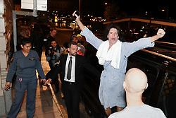 May 7, 2017 - Stockholm, Sweden - Kiss arrive to Lydmar Hotel after their concert at Tele2 Arena, Stockholm, Sweden.  Tommy Thayer, gitarrist (Credit Image: © Aftonbladet/IBL via ZUMA Wire)