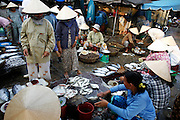 Hoi An, Vietnam. March 14th 2007..The fish market in Hoi An.