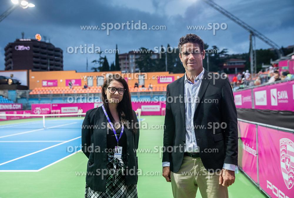 PORTOROZ, SLOVENIA - SEPTEMBER 19: Anja Vreg and Gregor Krusic at Singles final during the WTA 250 Zavarovalnica Sava Portoroz at SRC Marina, on September 19, 2021 in Portoroz / Portorose, Slovenia. Photo by Vid Ponikvar / Sportida